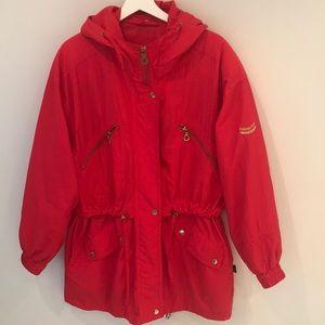 London Fog red women's rain jacket